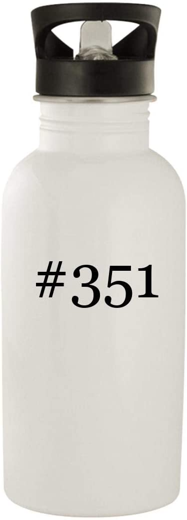 #351 - Stainless Steel Hashtag 20oz Water Bottle, White 51y34oGtm0L