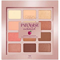 L'Oreal Paris presents the Paradise Enchanted Eye Shadow Palette. Get enchanted with 12 captivating warm eye shadow shades including creamy ivory, rosy nudes, bronzed ambers and pops of coral pinks. With a variety of finishes, from mattes to ...
