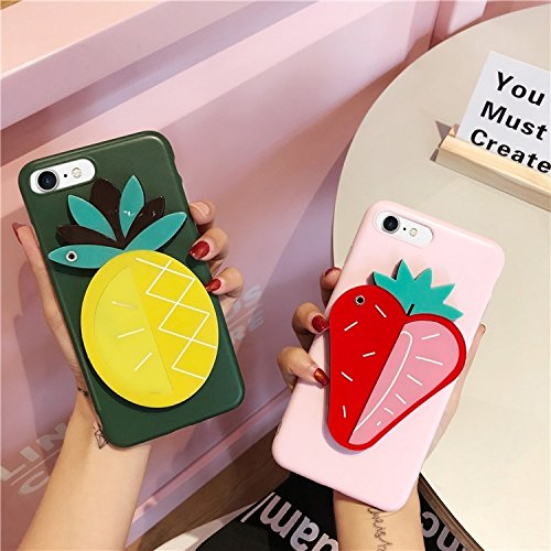 Wkae IMD Workmanship Strawberry Pattern Mirror Schutzhülle für iPhone 6 Plus & 6s Plus ( Size : Ip6p5558ly )