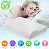 Bed Pillow, Memory Foam Pillows Bed Pillows Firm Hypoallergenic Dust Mite Resistant with Zipper, Reading Bed Rest Pillows for Home Hotel Collection Sleeping Bedding Neck Pain Side Back Sleepers