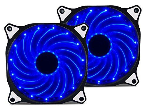 Ventilador Vetroo 120mm Blue 15-LEDs  2-Pack