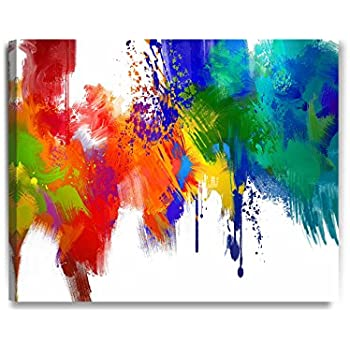 DecorArts   Colorful Paint Abstract Wall Art, Giclee Prints Abstract Modern  Canvas Wall Art For