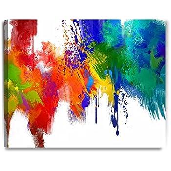 amazoncom 3 panel wall art fresh look color abstract