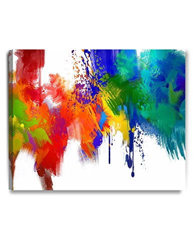 (DECORARTS - Colorful Paint Abstract Wall Art, Giclee Prints Abstract Modern Canvas Wall Art for Home Decor and Wall Decor. 30x24 x1.5 )