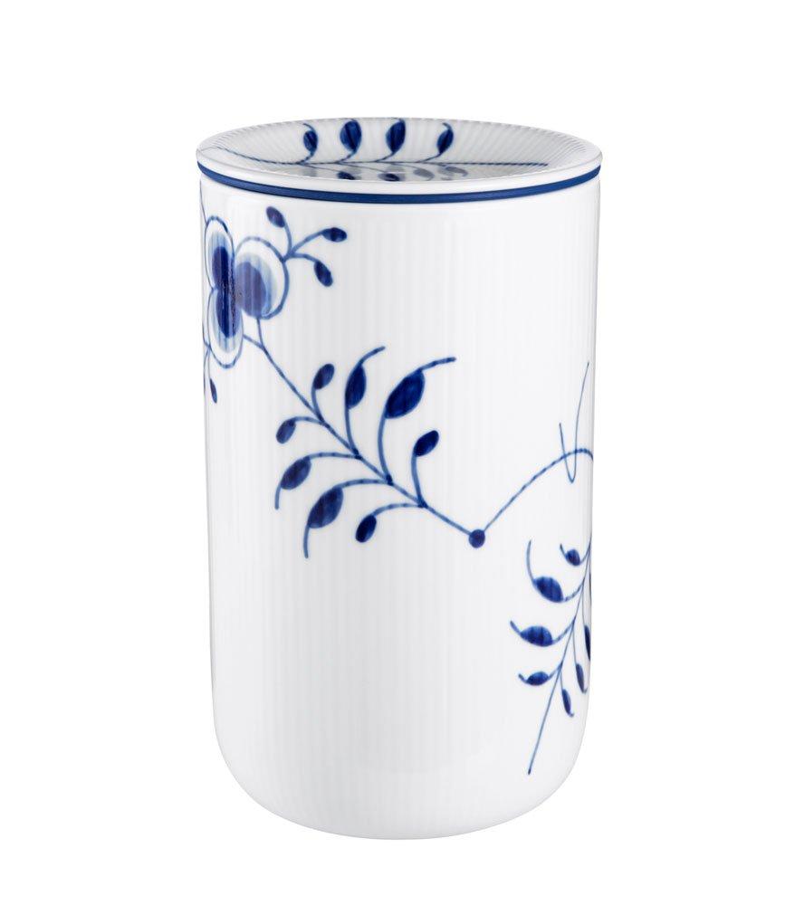 Royal Copenhagen Blue Fluted Storage Jar Large 8 Inches