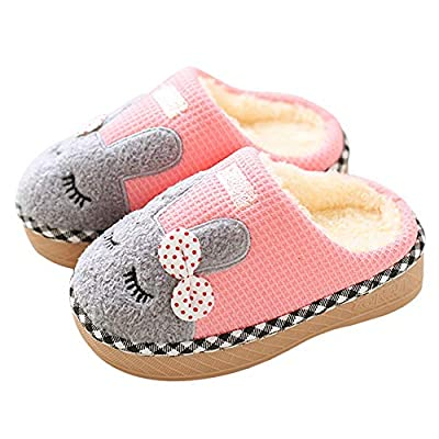 Cute Home Shoes,Infant Baby Girls Winter Cartoon Home Slippers Warm Indoors Floor Flock Non-Slip Shoes