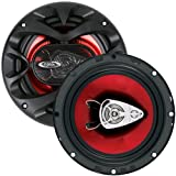 BOSS Audio CH6530 300 Watt (Per Pair), 6.5 Inch, Full Range, 3 Way Car Speakers (Sold in Pairs)