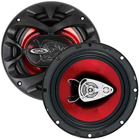 BOSS Audio CH6530 300 Watt (Per Pair), 6.5 Inch, Full Range, 3 Way Car Speakers (Sold in Pairs) (Acura Tsx 2005 Grill)