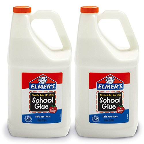 Elmer's Liquid School Glue, Washable, 1 Gallon, 2 Count - Great for Making Slime (4 Case(2 Count)) ()
