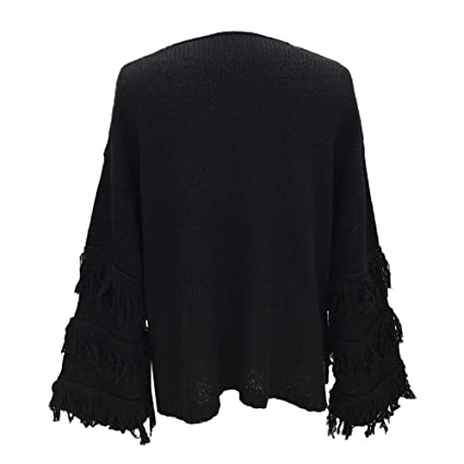 AOJIAN Blouse Women Long Sleeve T Shirt Knitted Tassel Sweater Tunic Tank Shirts Tops at Amazon Womens Clothing store: