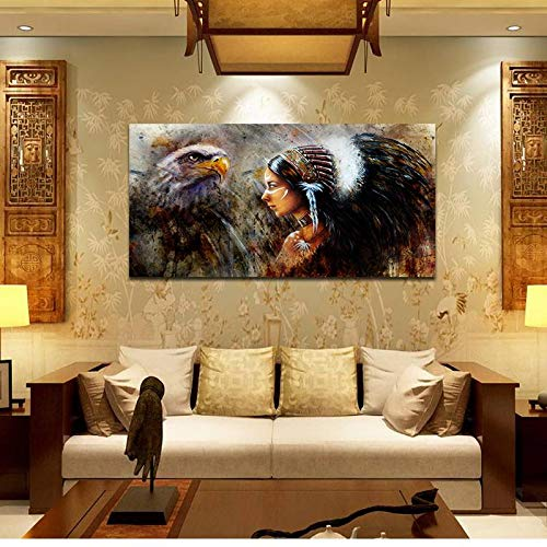 BFY Unframed Modern Abstract Oil Painting Native American Huge Wall Decor Art On Canvas