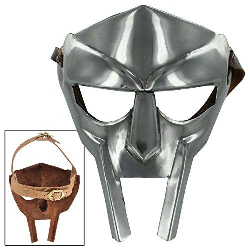 AnNafi Halloween Medieval Gladiator Doom Face Mask Handmade Armor Helmet Steel Costume Mask 18g Re-Enactment for Adult -