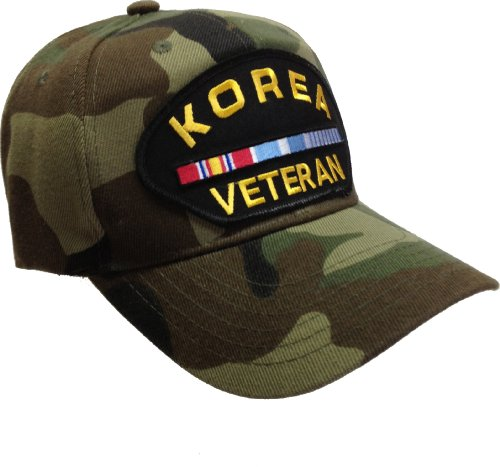 Korea Vet Veteran Korean War Ribbon Hat Ball Cap Camo