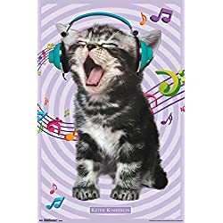 "Trends International Kitten Singing Wall Poster 22.375"" x 34"""