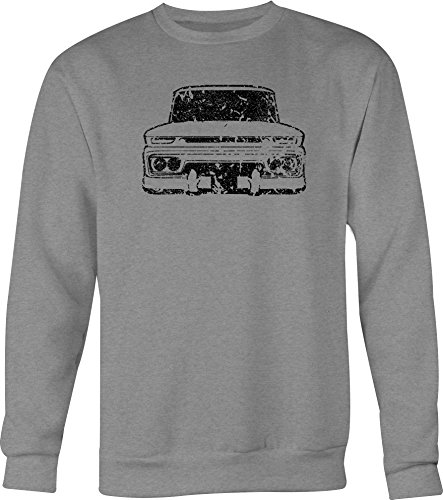 DISTRESS 1960-66 Chevy GMC Classic Lowered Truck C10 C20 Crewneck Shirt - Large