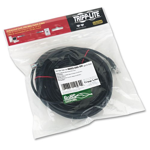 Tripplite N002050BK CAT5e Molded Patch Cable, 50 ft., Black by N002050BK