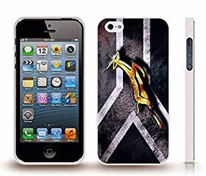Case For Iphone 5/5S Cover with South Africa Black and White Flag with Springbok Design Snap-on Cover Hardy Carrying Case For Iphone 5/5S Cover (White)