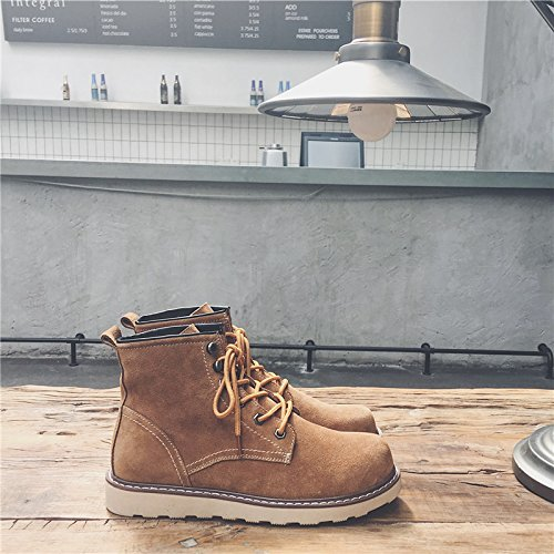HL-PYL - Stiefel Schuhe Stiefel Stiefel Stiefel Stiefel Stiefel und Stiefel männliche Stiefel Koreanische Version Arbeitsstiefel 38 Camel