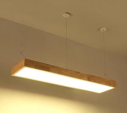 POPAHOME Candelabro Lámparas de techo de madera maciza de ...