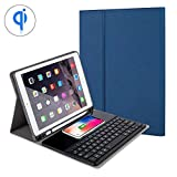 KOBWA Bluetooth Keyboard Case for New IPad 9.7'' 2018/2017,iPad Air/Air 2, IPad Pro 9.7,Ultra-thin Detachable Wireless Keyboard Case with Built-in Wireless Charging Function/Stand/Pencil Holder