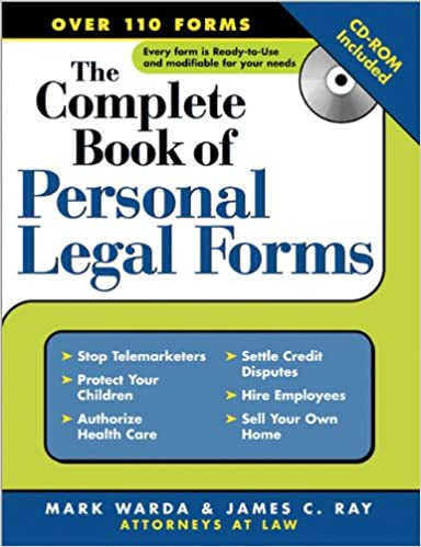 Amazoncom The Complete Book Of Personal Legal Forms - Law legal forms