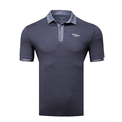 寛大な醸造所申請中Kayiyasu ポロシャツ メンズ ゴルフウェア UVカット ゴルフシャツ オシャレ スポーツシャツ 男性用 半袖 Tシャツ 運動着 日焼け止め 021-xsty-yf125(XL グレー)
