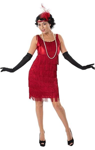 ORION COSTUMES Disfraz de Jovencilla de los años 20 Rojo con ...