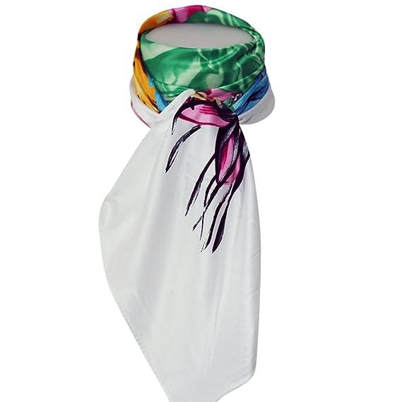 be4a881480da Chapeau-tendance - Grand foulard soie flowers - - Femme  Amazon.fr ...