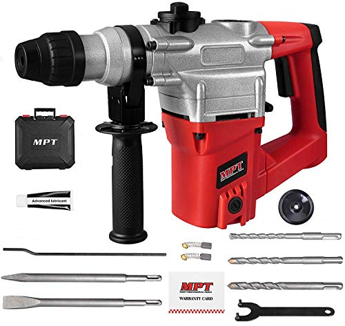 MPT 1 Inch SDS-plus 8.5 Amp Heavy Duty Rotary Hammer Drill,3