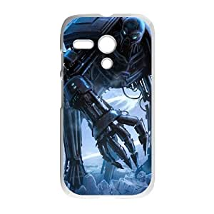 Motorola G Cell Phone Case White Huge Robot Monster R2F6MA