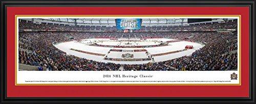 2014 NHL Heritage Classic (Senators vs Canucks) - Blakeway Panoramas NHL Posters with Senators Deluxe Frame
