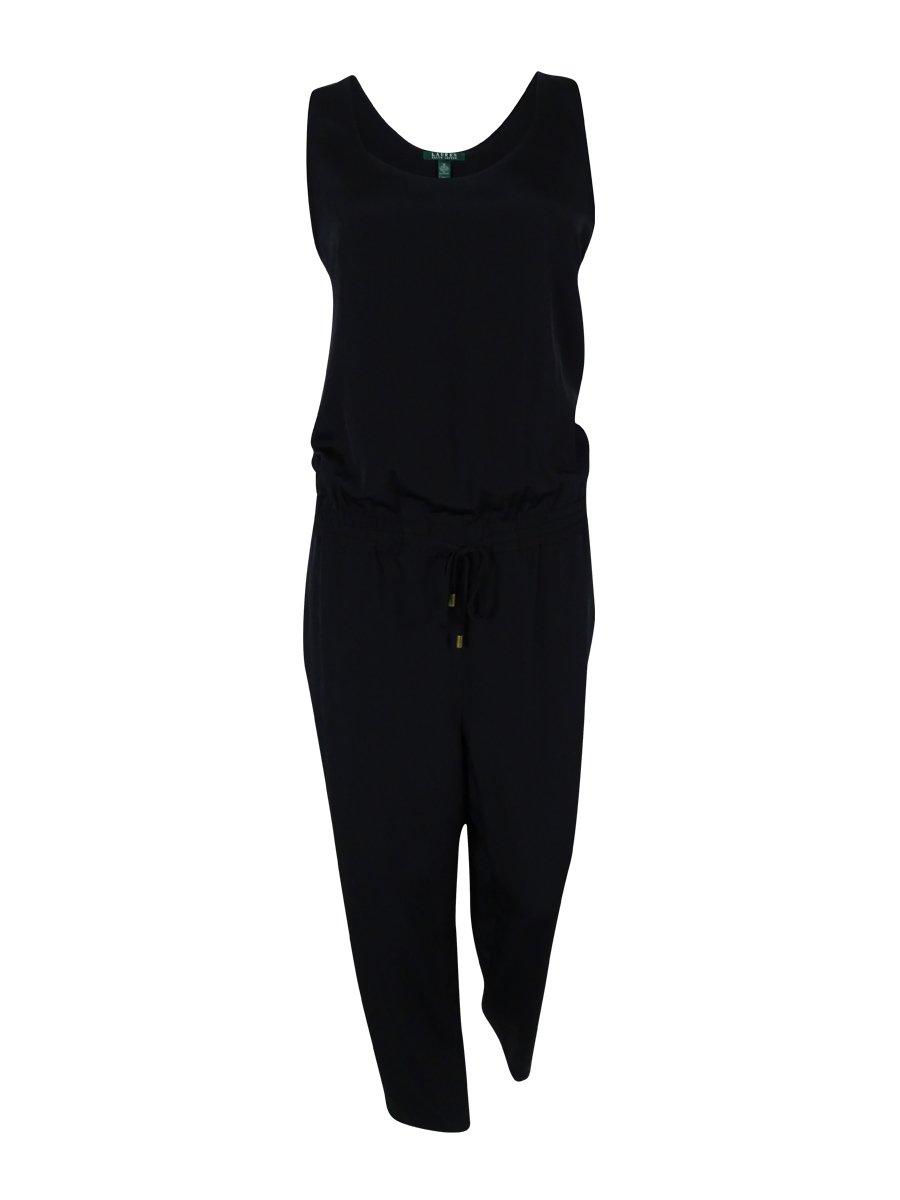 Ralph Lauren Scoop Neck Sleeveless Jumpsuit 12 Black