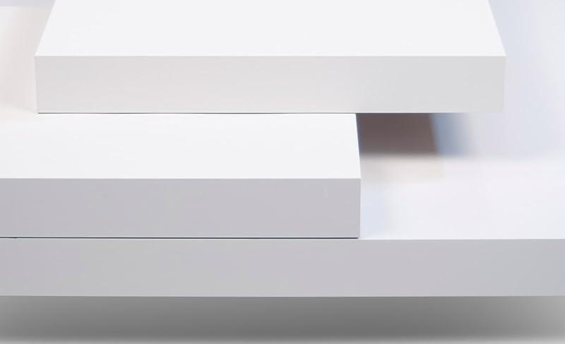 Modern Matte White Zion Occasional Table by Zuri