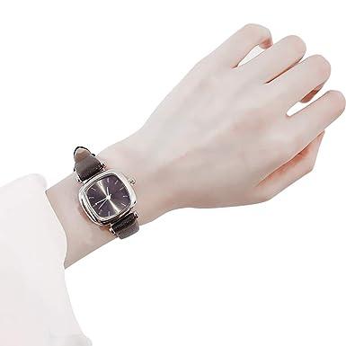 bqmqolove Relojes simples retros cuadrados Relojes de moda para mujeres niñas Regalo de reloj de cuarzo: Amazon.es: Ropa y accesorios