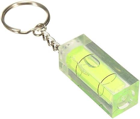 Schlüsselanhänger Toogoo R Mini Wasserwaage Hobbygeräte Schlüsselanhänger Wasserwaagen Schlüsselanhänger Farbe Blau Grün Küche Haushalt