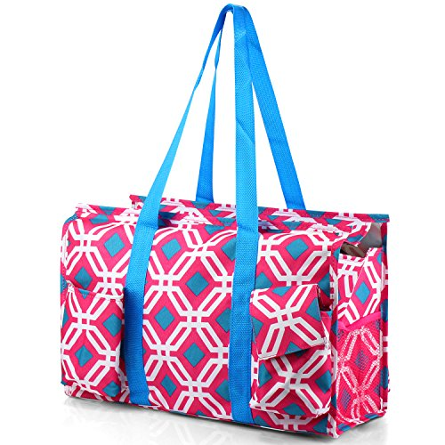 - Zodaca Lightweight All Purpose Utility Tote Bag, Pink Graphic