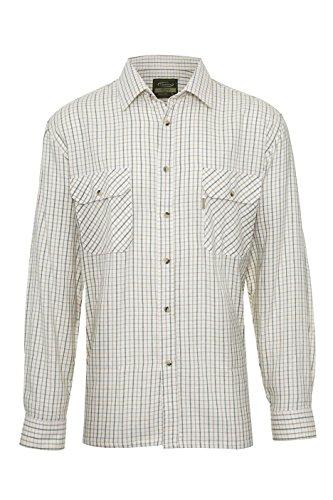 Champion - Camisa casual - Cuadrados - Clásico - para hombre white/green check