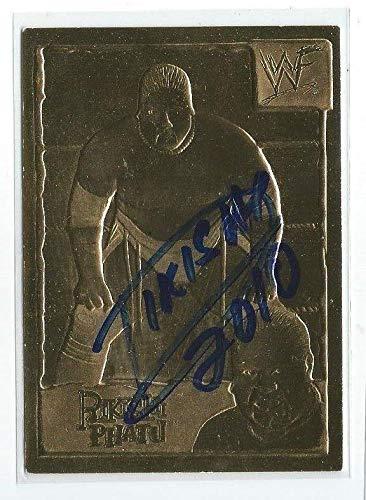 Rikishi Phatu Signed 1999 22kt Gold Danbury Mint Collectors Card #17 WWE - Autographed Wrestling Cards -