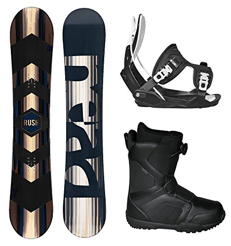 HEAD Rush Men's Complete Snowboard Package Bindings BOA Boots - Board Size 156