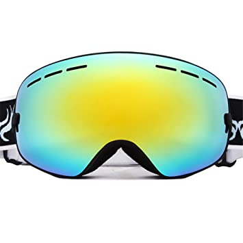 PhantomSky Création Supérieur UV400 Protection Anti-buée Cyclisme Ski Neige Lunettes de Sport - Pro Design pour les activités de plein air 0hVBc