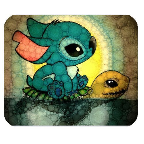 LeonardCustom- Personalized Rectangle Non-Slip Rubber Mousepad Gaming Mouse Pad / Mat- Cartoon Lilo and Stitch ()
