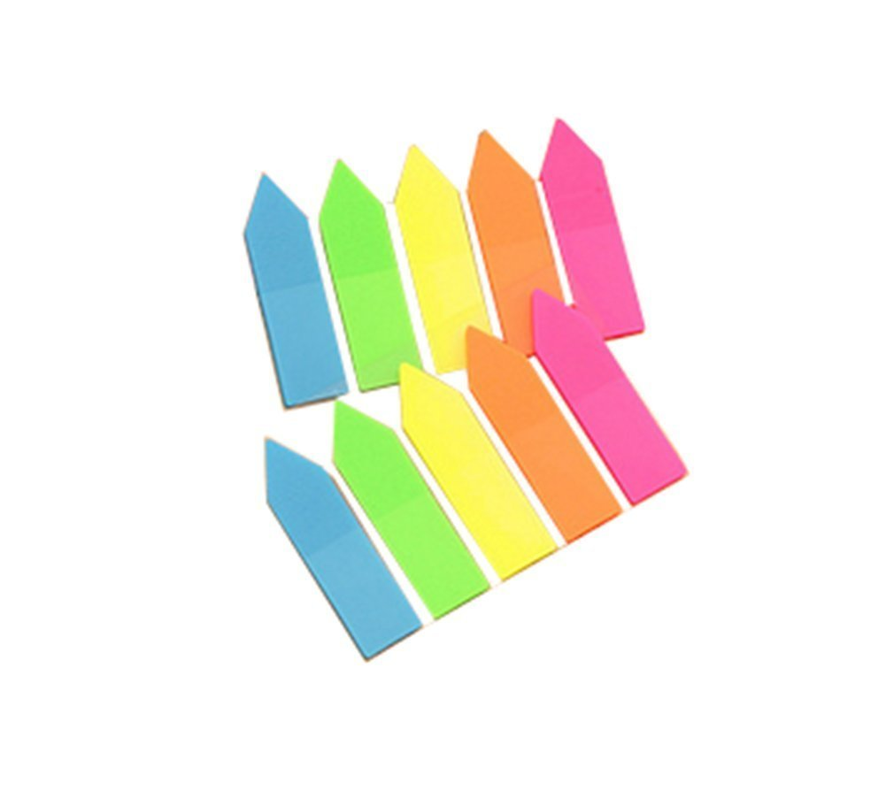 Segnapagina Fablcrew Bright segnapagina freccia linguette scrivibile singoli bandiere colorate, confezione da 100, B, 4.5*1.2cm