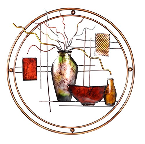 Metal Wall Decor Art 24 inches x 22 inches, Metal Still Life Sculpture