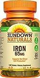 Sundown Naturals Iron Ferrous Sulfate 65 mg, 120 Tablets