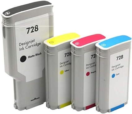 Cartucho de tinta para plotter 728, gran capacidad, para HP Designjet T830 T730 Cartucho de plotter: Amazon.es: Oficina y papelería