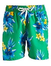 Kanu Surf Mens South Beach Floral Quick Dry Beach Volley Swim Trunk