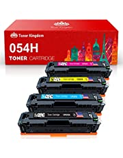 Toner Kingdom Compatible Toner Cartridge Replacement for Canon 054 054H CRG-054 for Canon Color ImageClass MF644Cdw MF642Cdw MF640C LBP622Cdw - 4Pack(1B 1C 1M 1Y)