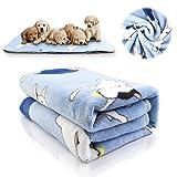 iNNEXT Puppy Blanket Pet Cushion Small Dog Cat Soft Warm Fleece Sleep Mat, Pet Dog Cat Puppy Kitten Soft Blanket Doggy Warm Bed Mat Cushion