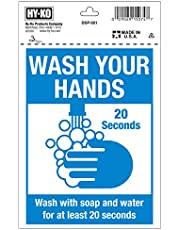 HY-KO Products DSP-001 WASH Your Hands 5 X 7 Sign, Multi