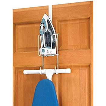 Whitmor Wire Over The Door Ironing Caddy   Iron And Ironing Board Storage  Organizer